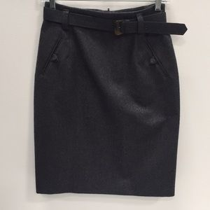 St Michael belted wool pencil skirt size 12